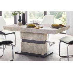 Homexperts Säulen-Esstisch Marley Az, ausziehbar, in 2 Größen (140 + 160) grau Esstische rechteckig Tische