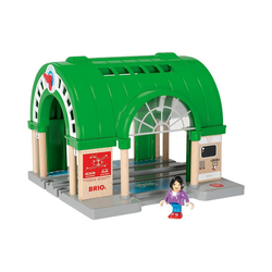 BRIO® Spielzeug-Eisenbahn Neuer Hauptbahnhof mit Ticketautomat