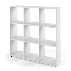 Vicco Raumteiler NOVE 9 Fächer Farbe Weiß - Würfelregal Raumtrenner Standregal