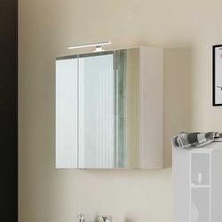 Bad Spiegelschrank mit LED Beleuchtung Weiß