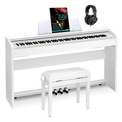 Casio PX-770 WE Privia Digitalpiano weiß Set inkl. Pianobank, Kopfhörer & Schule