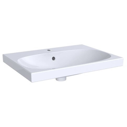 Geberit Waschtisch ACANTO 650 x 482 mm, mit Hahnloch, mit Überlauf weiß