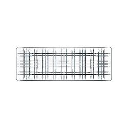 Nachtmann Square Geschirr Platte 42 cm klar rechteckig