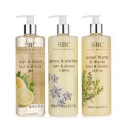 SBC Duschgel-Set Zitronenmyrte, Salbei Zitrus & Jasmin, 3x 500ml