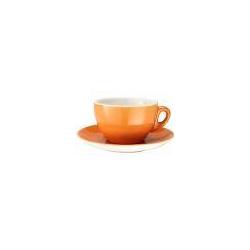 Caffè Latte Tasse 0,3l + Untertasse Ø 16 cm - Joy orange