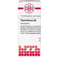 THYREOIDINUM D 6 Globuli 10 g