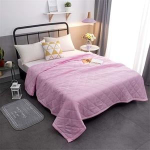 Chickwin Tagesdecke Bettüberwurf Gesteppt, Minimalismus Mikrofaser Tagesdecke Schlafzimmer Steppdecke Decke Überwurf Wohnzimmer Sofaüberwurf für Einzelbett Doppelbett (Rosa,100x150cm)