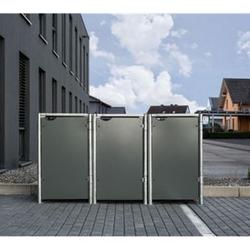 Hide Mülltonnenbox 240l Kunststoff, 3er Box, grau
