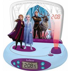 Disney Die Eiskönigin II - Wecker mit Projektor und Klingeltönen blau/lila