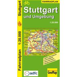 GeoMap Fahrradplan Stuttgart und Umgebung