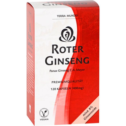 ROTER GINSENG 400 mg 8% von Terra Mundo Kapseln 120 St