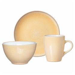 Ritzenhoff & Breker Frühstücks-Geschirrset Nancy Gelb (3-tlg), Porzellan gelb