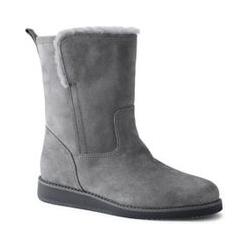Gefütterte Stiefel aus Leder - 37 - Grau