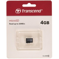 Transcend microSDHC 4GB Class 10