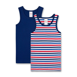 s.Oliver Unterhemd Jungen Unterhemd 2er Pack - Shirt ohne Arme, bunt 104