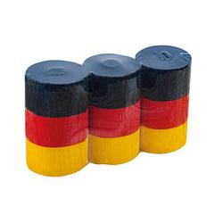 WEROLA Krepppapier Dekobänder Deutschland farbsortiert 38 g/qm 10 Rollen