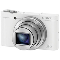 Sony Cyber-Shot DSC-WX500 Super Zoom Kamera, 18,2 Megapixel, 30x opt. Zoom, 7,5 cm (3 Zoll) Display weiß