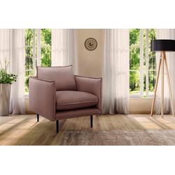 INOSIGN Sessel Somba, mit dickem Keder und eleganter Optik lila
