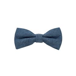 DonDon Fliege DonDon Herren Fliege 12 x 6 cm Baumwolle (1-St) bereits gebunden, verstellbar, Tweedlook blau