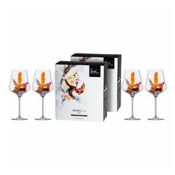 Eisch Rotweinglas Burgunderglas 4er Set Sky Sensis plus 710 ml, Kristallglas beige
