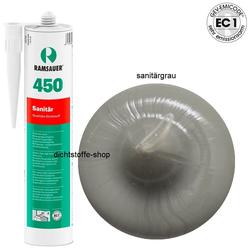 Ramsauer 450 Sanitär sanitärgrau 1K Silikon Dichtstoff 310ml Kartusche