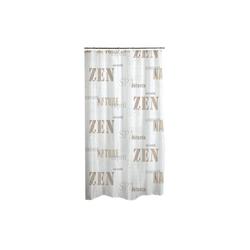dynamic24 Duschvorhang Breite 180 cm, Textil Wannenvorhang 180x200 Zen Badewannenvorhang Bad Dusche Vorhang