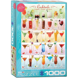 empireposter Puzzle Bunte Cocktail Rezepte - 1000 Teile Puzzle im Format 68x48 cm, Puzzleteile