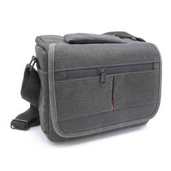 vhbw Universal Tasche Bag Case Umhängetasche grau ür Kamera, Kompaktkamera, Systemkamera, Bridgekamera.