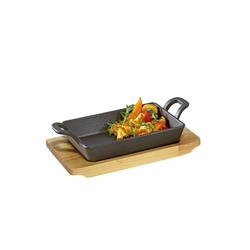 Küchenprofi Pfannen-Set Servierpfanne Pfanne mit Holzbrett