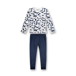 SANETTA Pyjama blau / weiß, Größe 152, 4999441