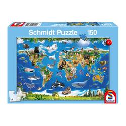 Schmidt Spiele Puzzle Lococo Tierwelt, 150 Puzzleteile bunt