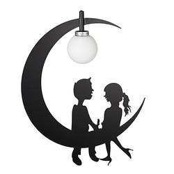 Kinderzimmerlampe Mond schwarz