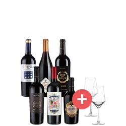 6er-Paket Weine des Jahres + GRATIS Schott-Zwiesel Gläser - Weinpakete