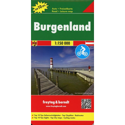 Burgenland Top 10 Tips Autokarte 1:150.000