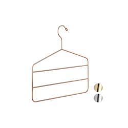 relaxdays Mehrfach-Kleiderbügel Mehrfach Hosenbügel Metall braun
