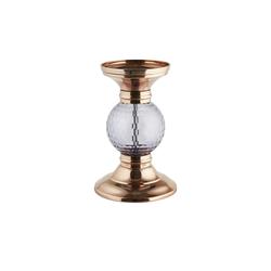 Basispreis* Kerzenhalter ¦ kupfer ¦ Metall, Glas  ¦ Maße (cm): H: 21 Ø: [13.0]