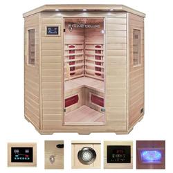 HOME DELUXE Infrarotkabine Redsun XXL, BxTxH: 150 x 150 x 190 cm, 40 mm, 40 mm, für bis zu 4 Personen