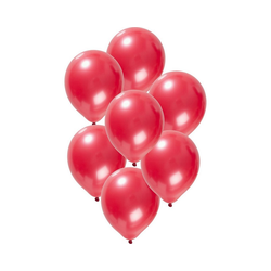 Folat Luftballon Luftballons metallic rot 30 cm, 50 Stück rot