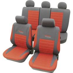 Cartrend 60121 Active Sitzbezug 11teilig Polyester Rot Fahrersitz, Beifahrersitz, Rücksitz
