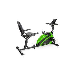 KLARFIT Fahrradtrainer Relaxbike 6.0 SE Liegeergometer 12kg Schwungmasse Magnetwiderstand 100kg schwarz