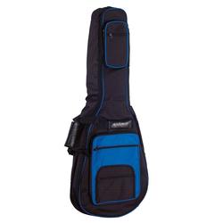 Gitarrentasche Gig Bag, blau-schwarz, für 4/4 Konzertgitarren