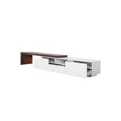dynamic24 Lowboard (1 St), XXL TV Lowboard 3,90m Sideboard Fernsehschrank Schrank Kommode Fernsehtisch weiß