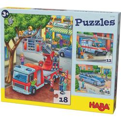 Puzzles Polizei Feuerwehr & Co. 3 Motive