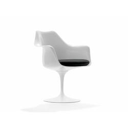 Stuhl Saarinen Tulip Knoll International weiß, Designer Eero Saarinen, 81x68x59 cm