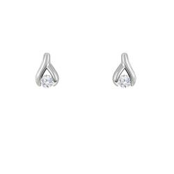 Dezente Ohrringe aus Platin mit 0.2ct Diamanten Ines