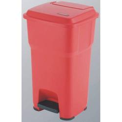 Abfallbehälter Hera mit Pedal 60l rot