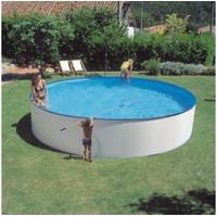 Gre Stahlwandbecken Set 460 x 120 cm weiß inkl. Kartuschenfilter
