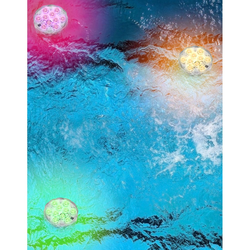 LED Dekoleuchte schwimmender Puck Klar