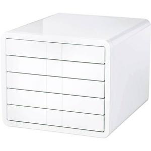 HAN i-Box 1551-12 Schubladenbox Weiß DIN A4, DIN C4 Anzahl der Schubfächer: 5