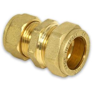Messing-Klemmverschraubung für Kupferrohre Kupplung reduziert, 28-22mm